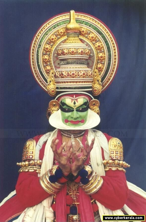 Kalamandalam Balasubrahmaniam showing Mudra of Lotus
