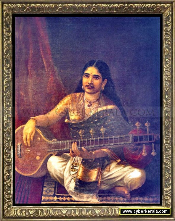 Woman with Veena